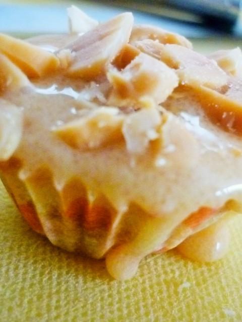 Cupcake caramel cacahuètes