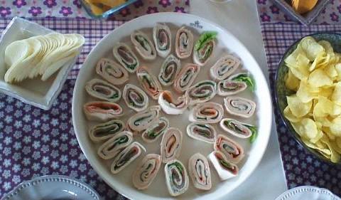 Wraps de saumon et surimi