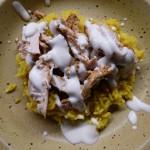 Riz épicé, poulet citronné, plat léger